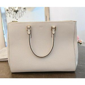 Anya Hindmarch Ebury Large White Leather Tote Bag